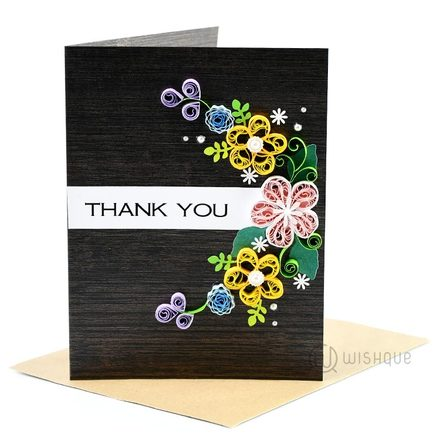 Classic Thank You Greeting Card