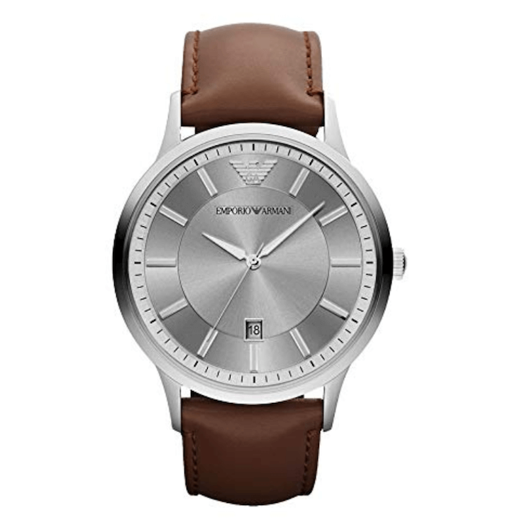 Emporio Armani Men's Dress Brown Leather Watch