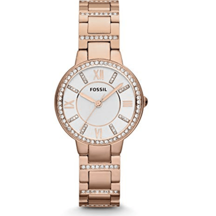 Fossil Women's ES3284 Virginia Analog Quartz Rose Gold Watch