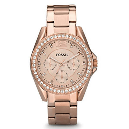Fossil Women's ES2811 Riley Rose Gold-Tone