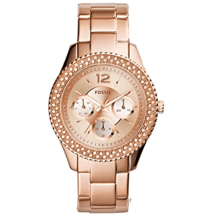 Fossil Women's ES3590 Stella Rose Gold-Tone Stainless Automatic Watch
