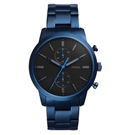 Fossil Townsman Blue Stainless Steel Watch FS5345