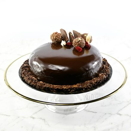 Lindt Ganache and Ferrero Chocolate Cake