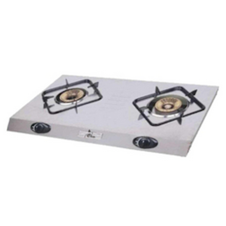 Stainless Steel Double Burner Gas Cooker