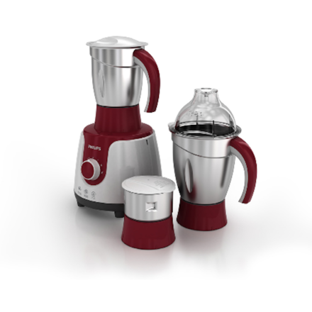 Philips Mixer 750W Grinder with 3 Stainless Steel Jars and Spatula