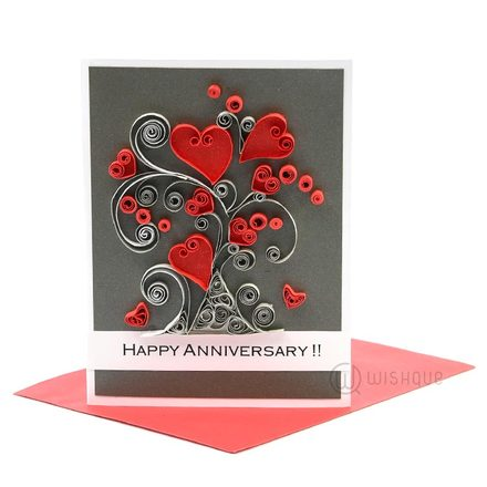 Love Tree Anniversary Greeting Card