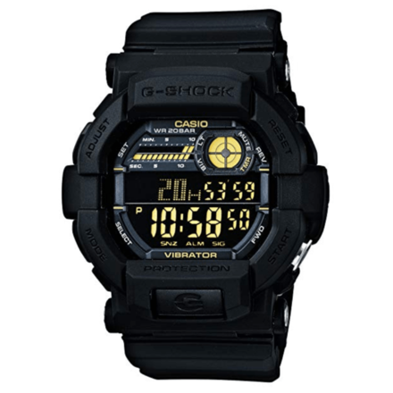 Casio G-Shock Digital Black And Gold