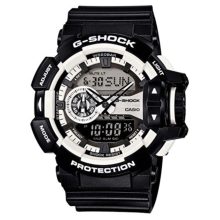 Casio G-Shock Black And White Big Case Ga400-1A