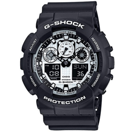 Casio G-Shock Duo/Chrono Black And White Ga100Bw-1A Watch