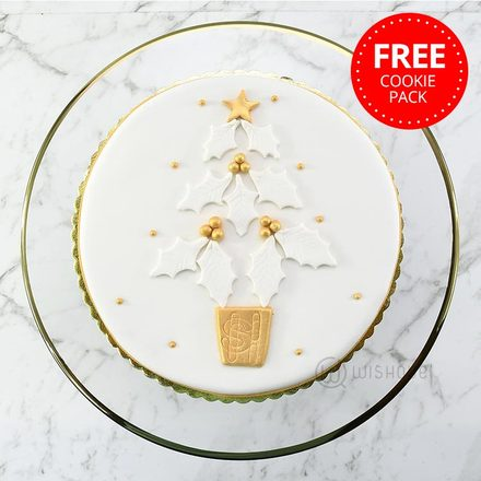 Traditional Rich Christmas Fruit Cake with Free Cookie Pack