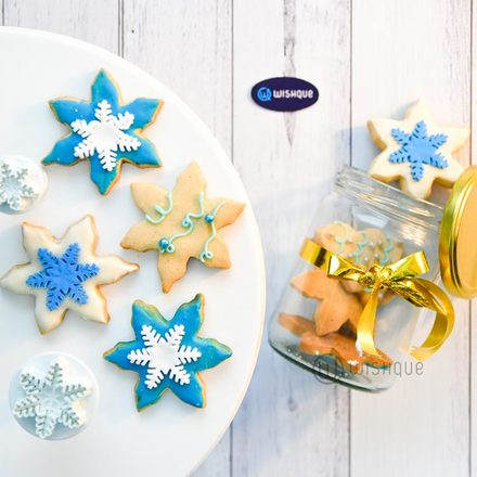 Snow Flakes Butter Cookie Jar ( 8 Pcs )