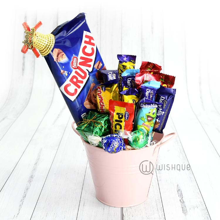 Bucket Full Of Chocolates for Christmas