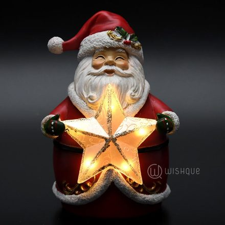 Santa LED Night Light Ornament