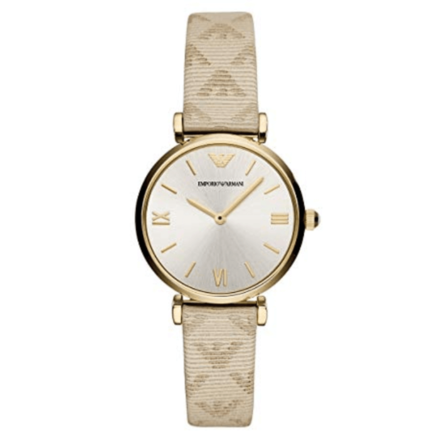 Emporio Armani Women's AR11127 Analog Quartz Beige Watch
