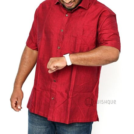 Maroon XL Cotton Shirt