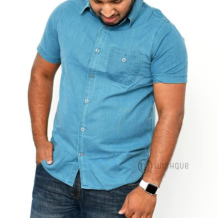 Sky Blue L Cotton Shirt