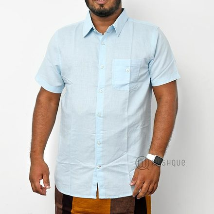 Light Blue L Cotton Shirt