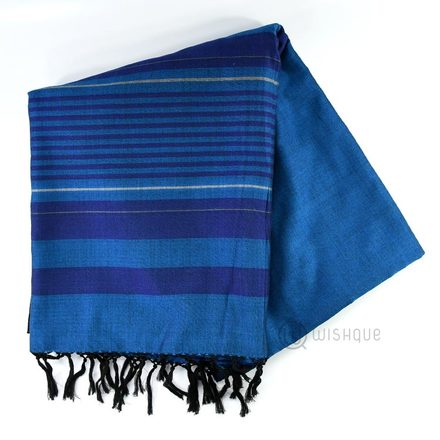 Handloom Saree - Dark Blue Shades