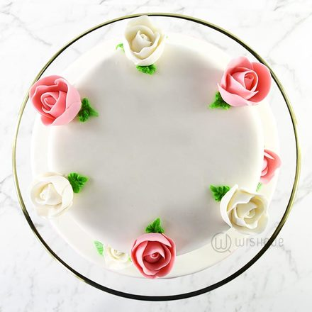 Roses & Vines Ribbon Cake