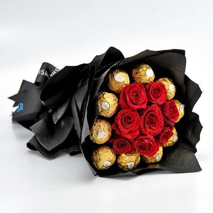 Blush Ferrero & Roses Bouquet