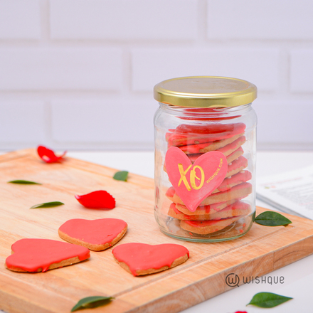 Blush Heart All Butter Cookie Jar