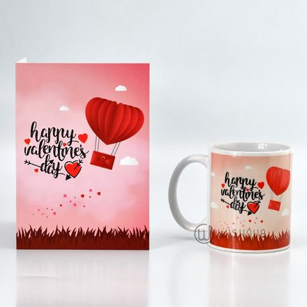 Love In The Air Printed Mug & Greeting Card