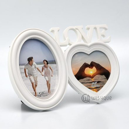 One Love In White Photo Frame
