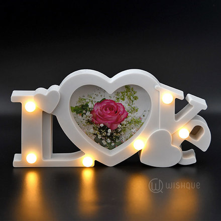 Love Lights Photo Frame