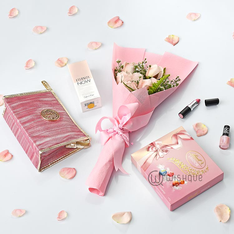 Pretty In Pink  Beauty, CK Fragrance & Lindt Treat Luxury Gift Set