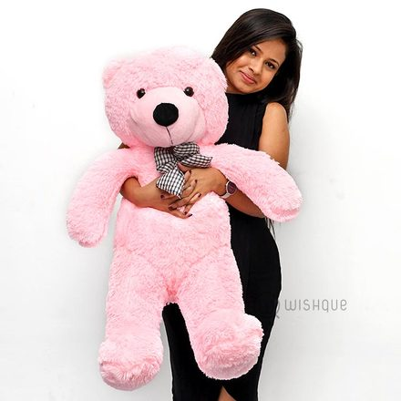 Hug Me Pink Teddy Extra Large 2.6 Feet