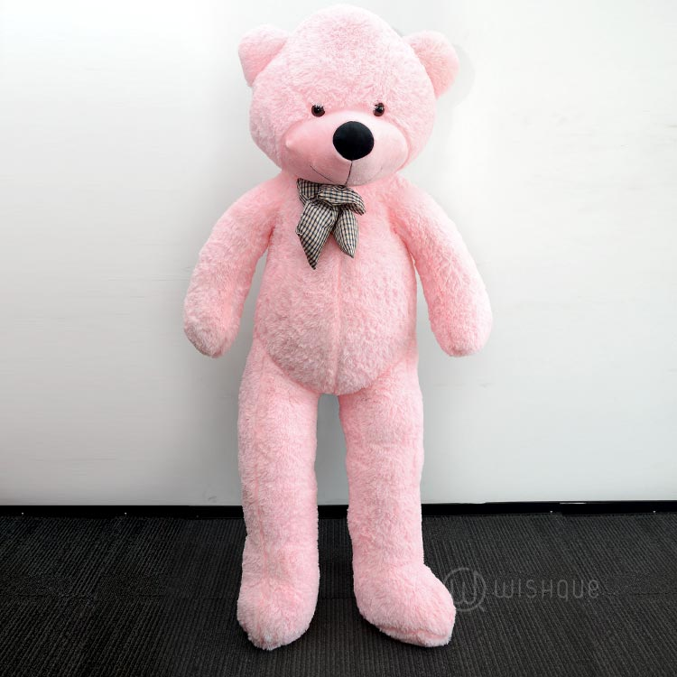 Giant Life Size Teddy Bear In Pink (5 Feet)