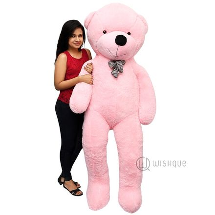 Giant Life Size Teddy Bear In Pink (6.5 Feet)