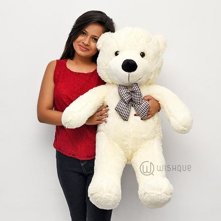 Mr Cuddlesworth Teddy Bear In White Extra Large 2.6 Feet