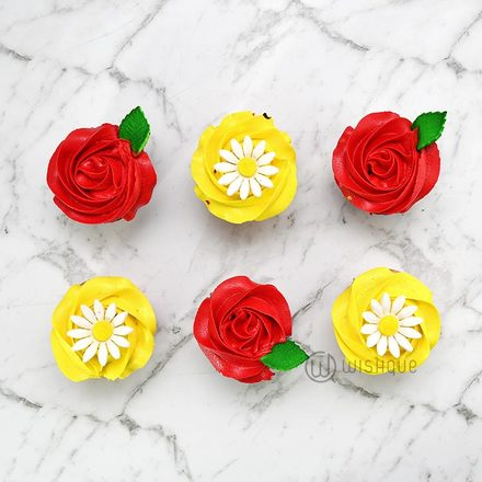 Red Rose Cupcake Pack Of 6