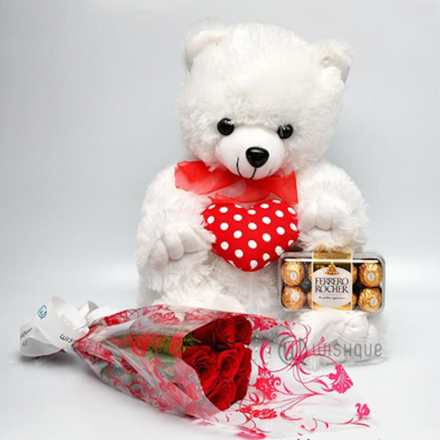 To My Sweetheart XL Teddy (2.5 Feet ) Gift Set