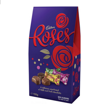 2899047e358f92 Cadbury Roses Chocolate Gift Box 150g