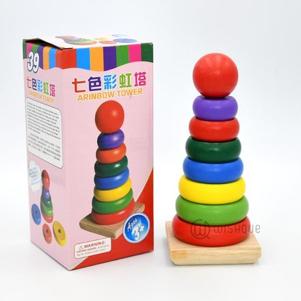 Rainbow Stacking Tower Large