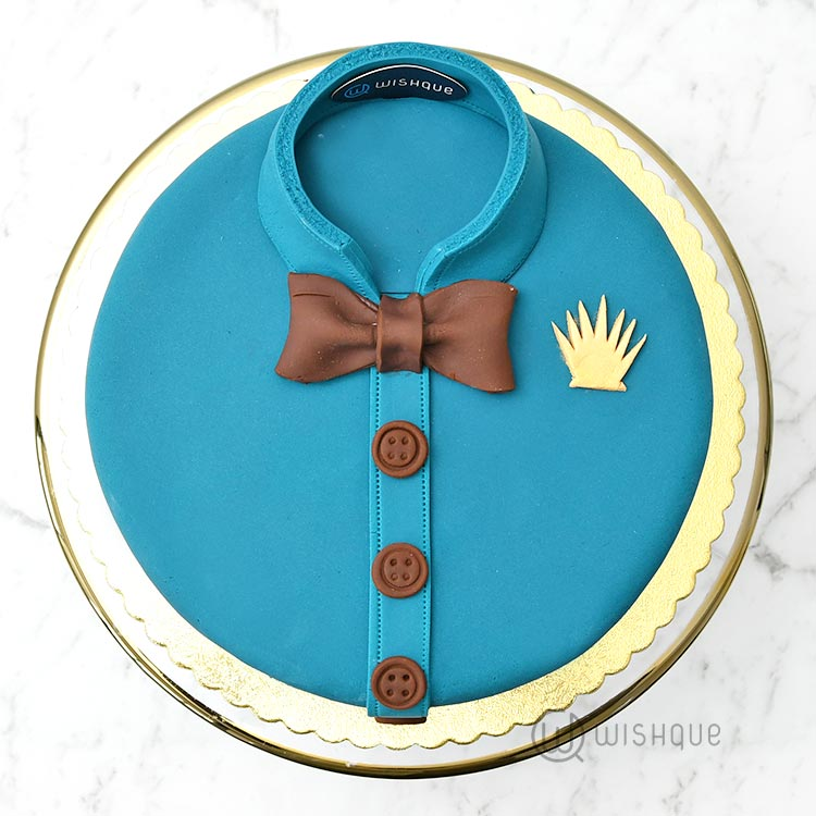 Evening Suit Ribbon Cake