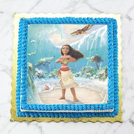 Custom Edible Print Cake - Moana