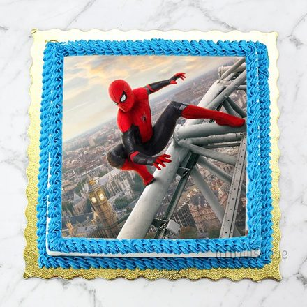 Custom Edible Print Cake - Spider Man