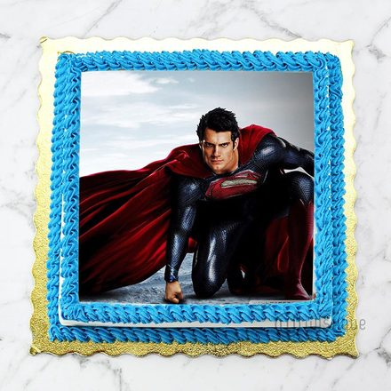 Custom Edible Print Cake - Super Man