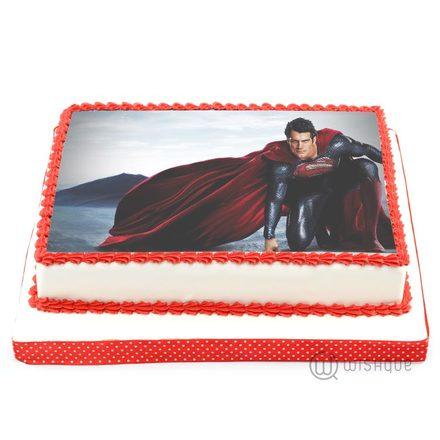 Custom Edible Print Cake - Superman 4.4lbs