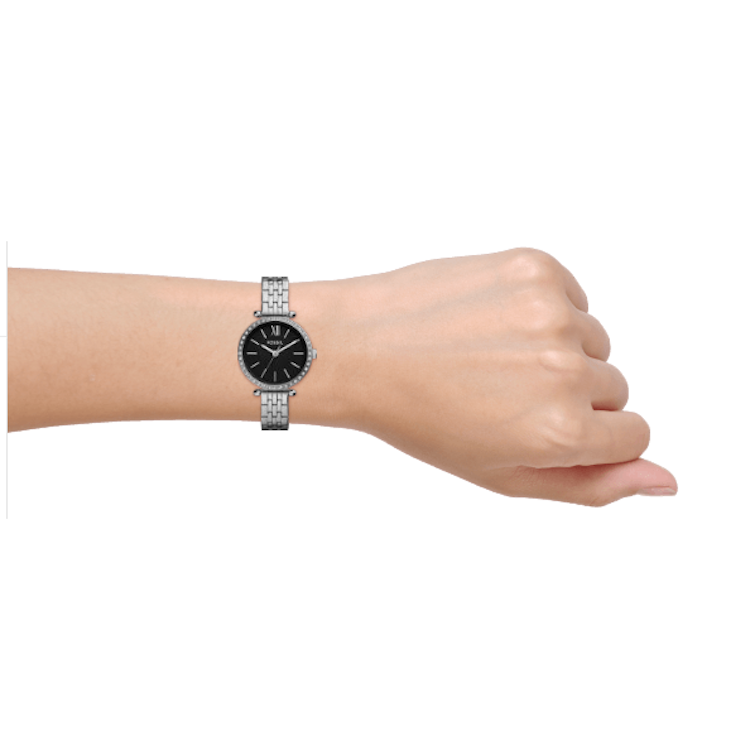 Fossil BQ3501 Classic Stainless Steel Black Dial Women's Watch