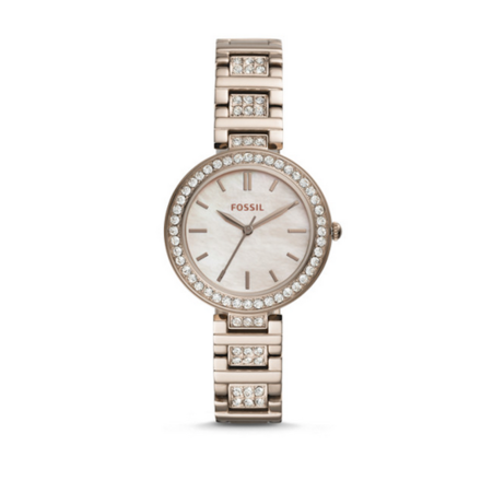 Fossil Karli BQ3468 Pink Stainless Steel Women's Watch