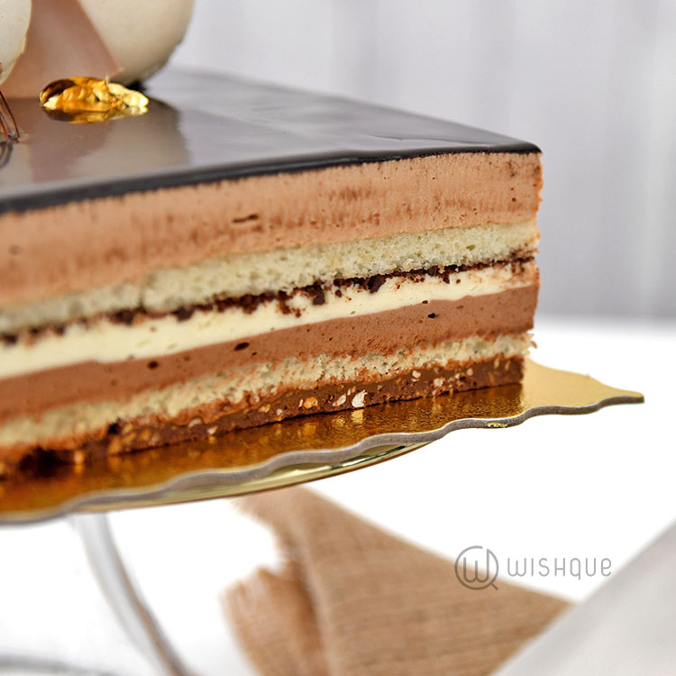 Triple Chocolate Lindt Mousse Cake