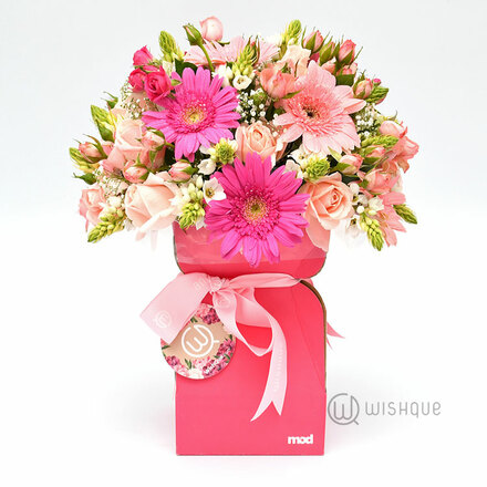 Pink Blossoms Flower Bucket