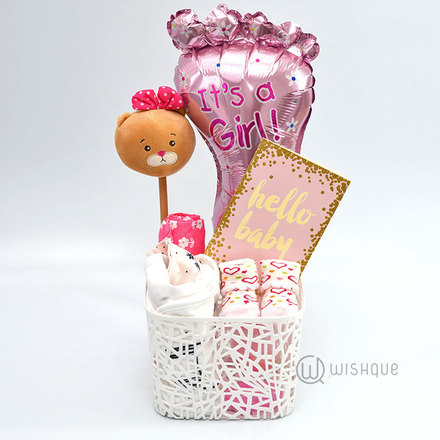 Hello Baby Girl Gift Hamper
