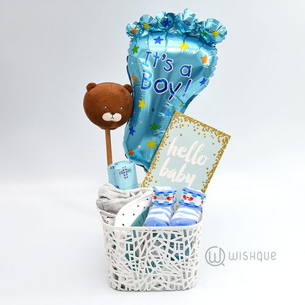 Hello Baby Boy Gift Hamper