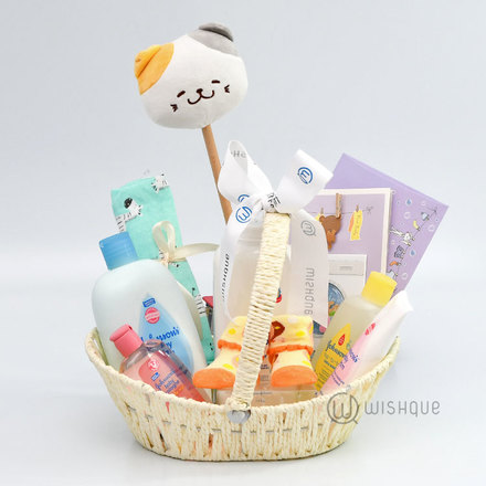 Unisex Baby Shower Gift Basket