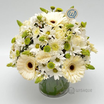 White Pops Flower Vase